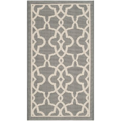 Ceri Grey/Beige Rug Rug Size: Rectangle 4 x 57