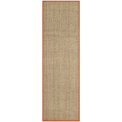 Morrisville Natural/Rust Area Rug Rug Size: Runner 26 x 8
