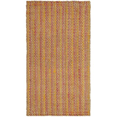 Neta Hand-Woven Pink/Yellow Area Rug Rug Size: Rectangle 3 x 5