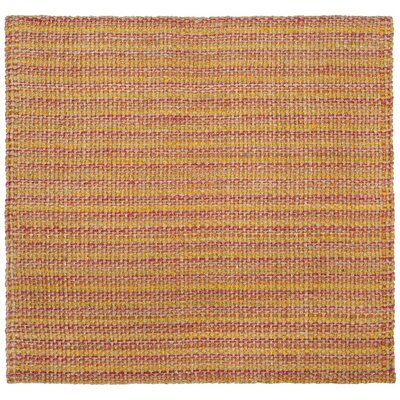 Kimberwood Hand-Woven Pink/Yellow Area Rug Rug Size: Square 6