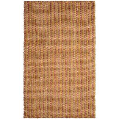 Neta Hand-Woven Pink/Yellow Area Rug Rug Size: 5 x 8