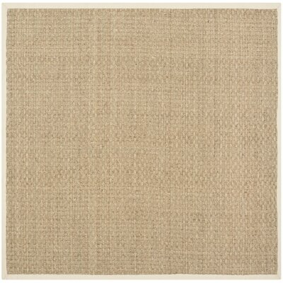Richmond Hand-Woven Natural/Beige Area Rug Rug Size: Square 6