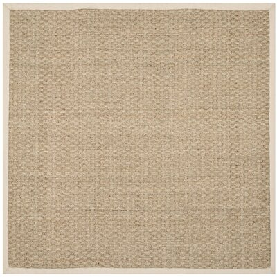 Claudia Natural/Ivory Area Rug Rug Size: Square 4