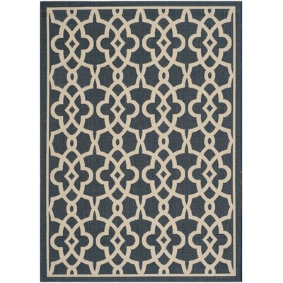 Ceri Navy/Beige Rug Rug Size: Rectangle 53 x 77