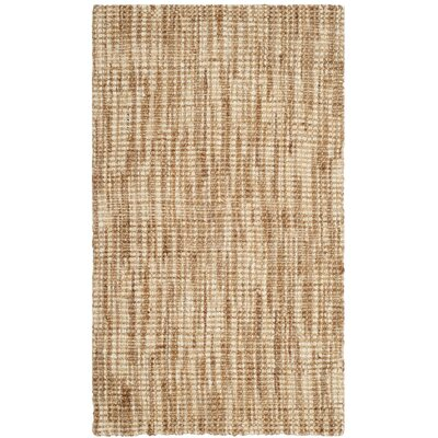 Omorfo Hand-Woven Natural/Cream Area Rug Rug Size: 3 x 5