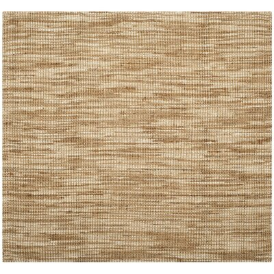 Brookford Hand-Woven Natural/Cream Area Rug Rug Size: Square 6