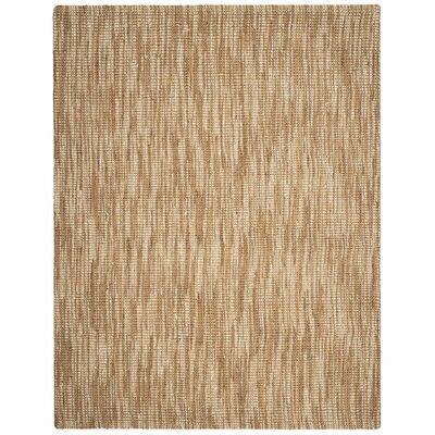 Brookford Hand-Woven Natural/Cream Area Rug Rug Size: 8 x 10