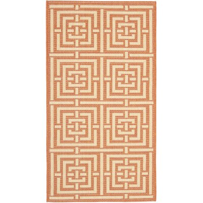 Romola Abstract Terracotta Rug Rug Size: Rectangle 2 x 37