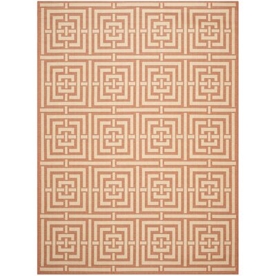 Romola Abstract Terracotta Rug Rug Size: 9 x 12
