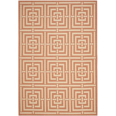 Romola Abstract Terracotta Rug Rug Size: 53 x 77