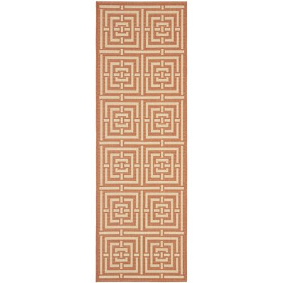 Romola Abstract Terracotta Rug Rug Size: Runner 24 x 911