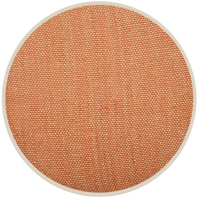 Stantonsburg Hand-Woven Rust/Natural Area Rug Rug Size: Round 6
