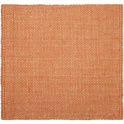 Nata Hand-Woven Rust/Natural Area Rug Rug Size: Square 6