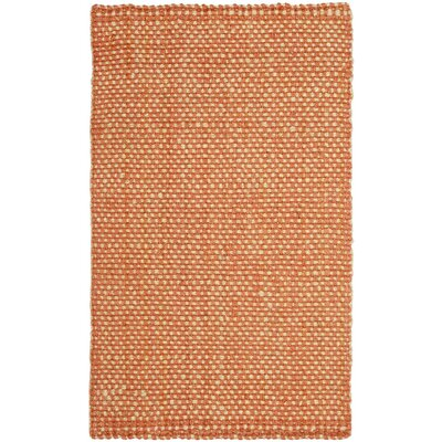 Stantonsburg Hand-Woven Rust/Natural Area Rug Rug Size: Rectangle 4 x 6