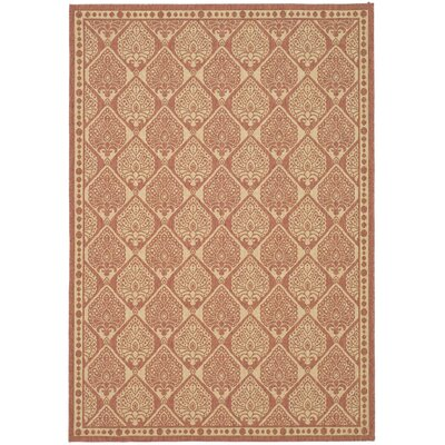 Romola Rust/Sand Outdoor Rug Rug Size: Rectangle 4 x 57