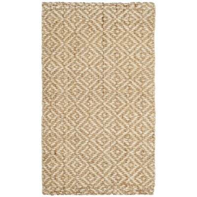 Miliou Hand-Woven Ivory/Natural Area Rug Rug Size: 3 x 5
