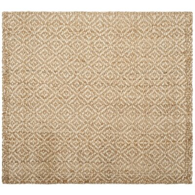 Miliou Hand-Woven Ivory/Natural Area Rug Rug Size: Square 6'