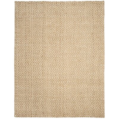 Huntersville Hand-Woven Ivory/Natural Area Rug Rug Size: 8 x 10