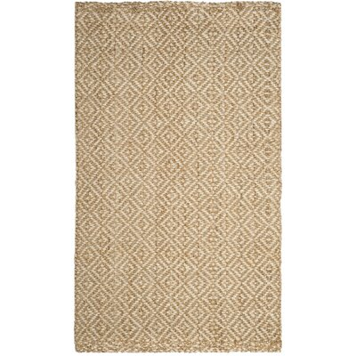 Miliou Hand-Woven Ivory/Natural Area Rug Rug Size: 5 x 8