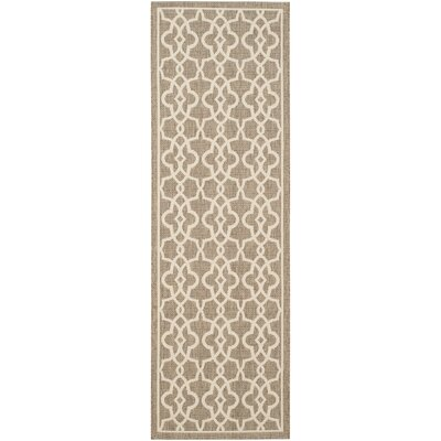 Romola Mocha/Beige Area Rug Rug Size: Rectangle 27 x 5