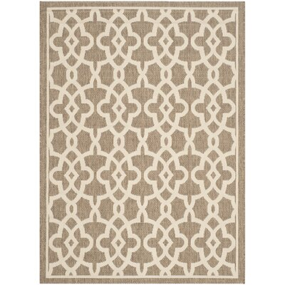 Romola Mocha/Beige Area Rug Rug Size: Rectangle 8 x 11