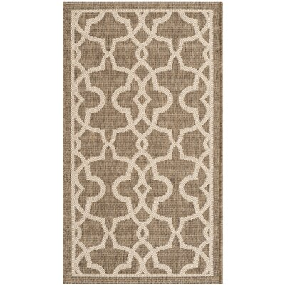 Romola Mocha/Beige Area Rug Rug Size: Rectangle 53 x 77