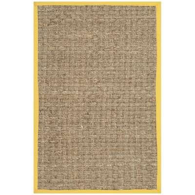 Balfour Natural/Gold Area Rug Rug Size: 2 x 3