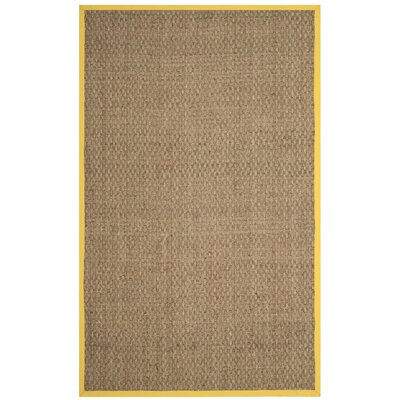 Oikos Natural/Gold Area Rug Rug Size: 5 x 8