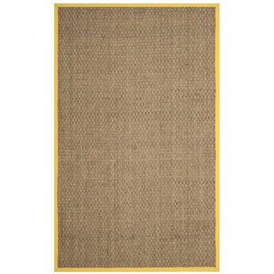 Balfour Natural/Gold Area Rug Rug Size: 5 x 8