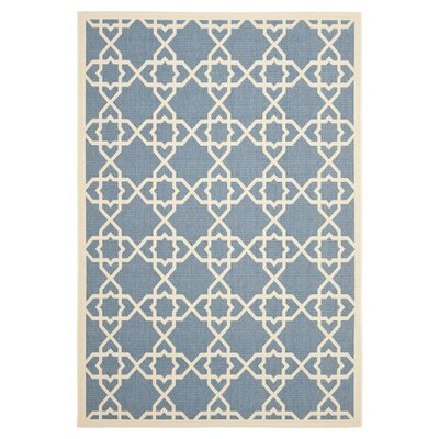 Romola Blue/Beige Indoor/Outdoor Rug Rug Size: 67 x 96