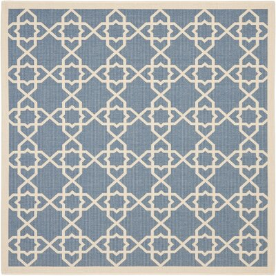 Inverness Highlands Blue/Beige Indoor/Outdoor Rug Rug Size: Square 710