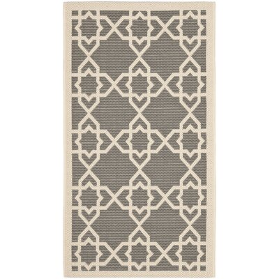Inverness Highlands Grey/Beige Indoor/Outdoor Rug Rug Size: 53 x 77