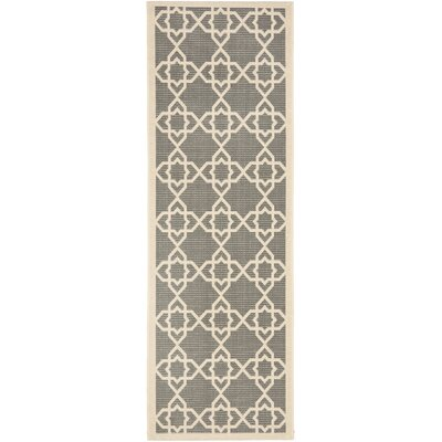 Ceri Grey/Beige Indoor/Outdoor Area Rug Rug Size: Runner 24 x 911