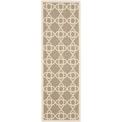 Ceri Brown/Beige Outdoor Rug Rug Size: Runner 23 x 14