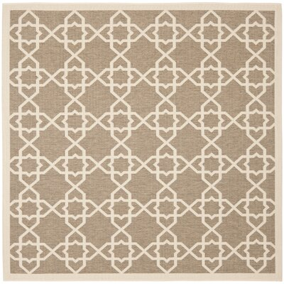 Inverness Highlands Brown/Beige Outdoor Rug Rug Size: Square 710