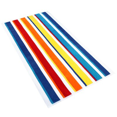 Stripe Beach Towel Color: Multi-Color