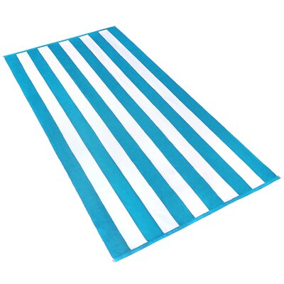 Stripe Beach Towel Color: Turquoise / White