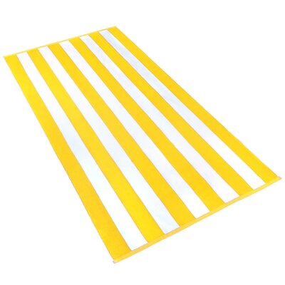 Stripe Beach Towel Color: Yellow / White