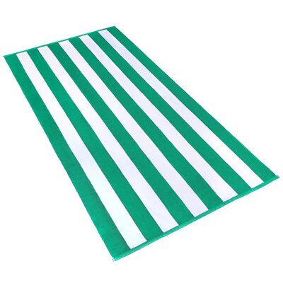 Stripe Beach Towel Color: Green / White