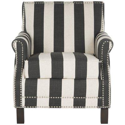Randall Armchair Upholstery: Black/White