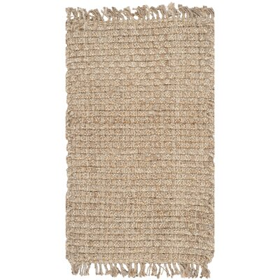 Myrtou Hand-Loomed Natural Area Rug Rug Size: Rectangle 5 x 8