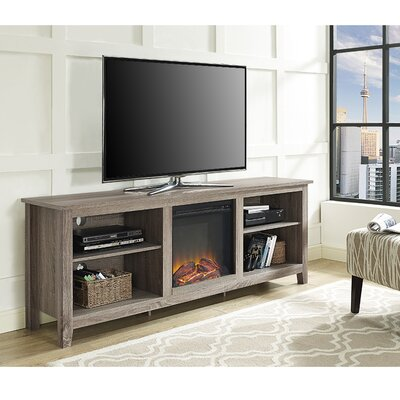Sunbury 70 TV Stand with optional Fireplace Color: White Oak, Fireplace Included: No