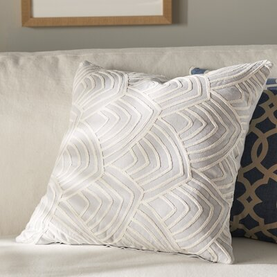 Verona 100% Cotton Throw Pillow Color: Gray