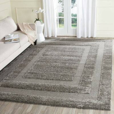 Altha Gray Area Rug Rug Size: Square 4 x 4