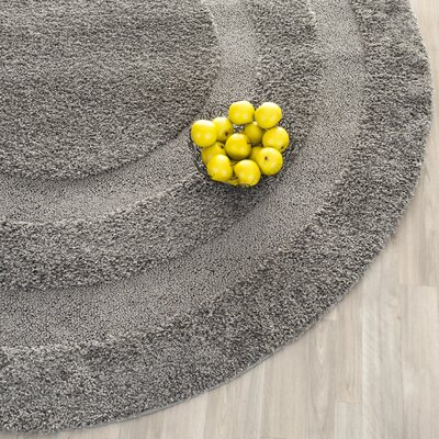 Altha Gray Area Rug Rug Size: Round 67