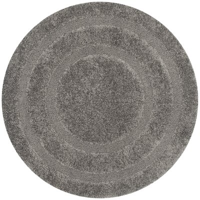 Altha Gray Area Rug Rug Size: Round 4