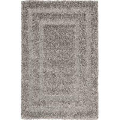 Altha Gray Area Rug Rug Size: 33 x 53