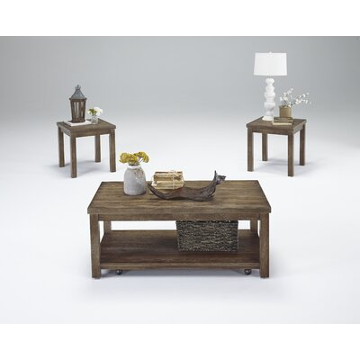 Nashua 3 Piece Coffee Table Set Color: Driftwood