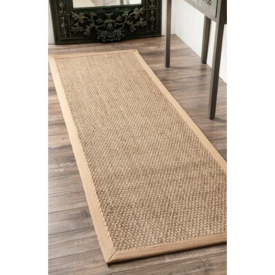 Mayfair Beige Area Rug Rug Size: Runner 26 x 12