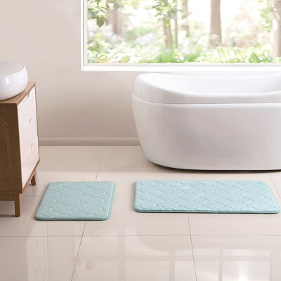 Henley 2 Piece Memory Foam Bath Rug Set